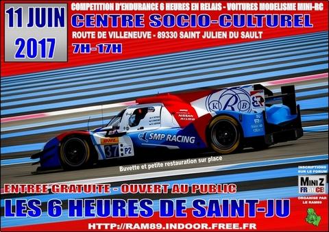 (89) 11 Juin 2017 - Endurance 6 H en relais au RAM89 St Julien du Sault Affiche_6h_stju_11062017_480px