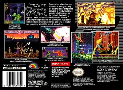 A la recherche du nom d'un jeu - Page 3 Warlock-snes-cover-art-back