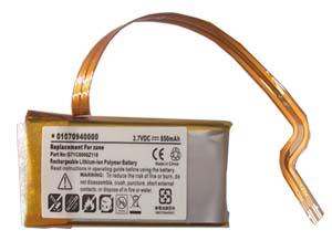 Battery forMicrosoft MP3 PA-Zune Pa-zune