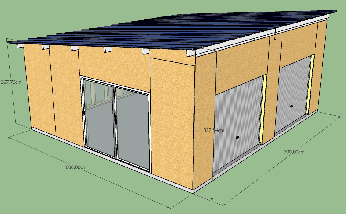 Construction d'un garage double en ossature bois Garage_1