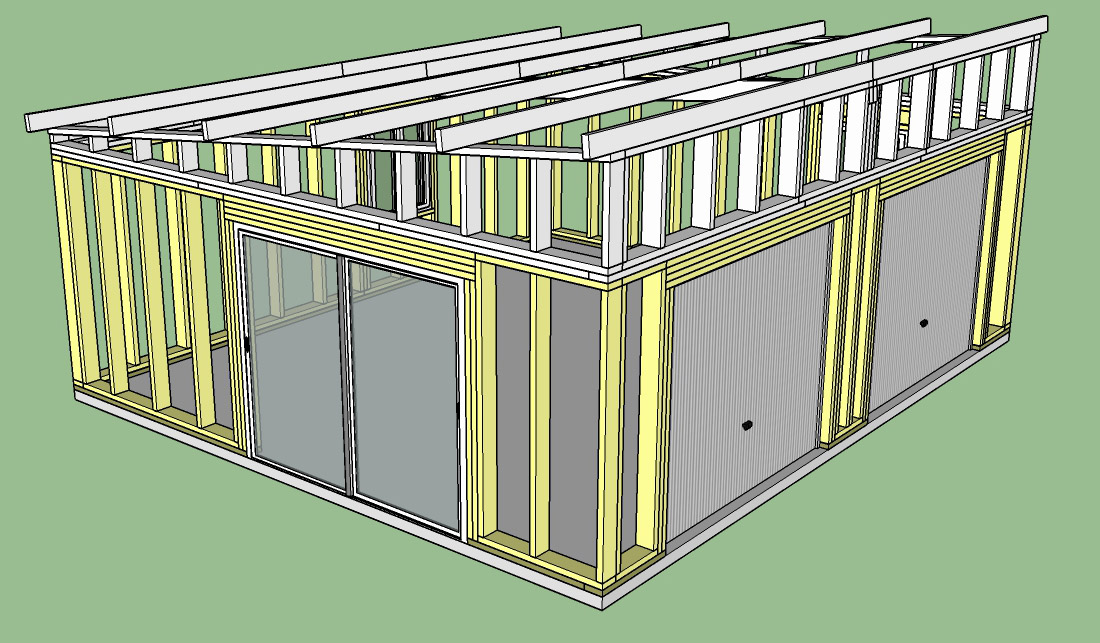 Construction d'un garage double en ossature bois Garage_3