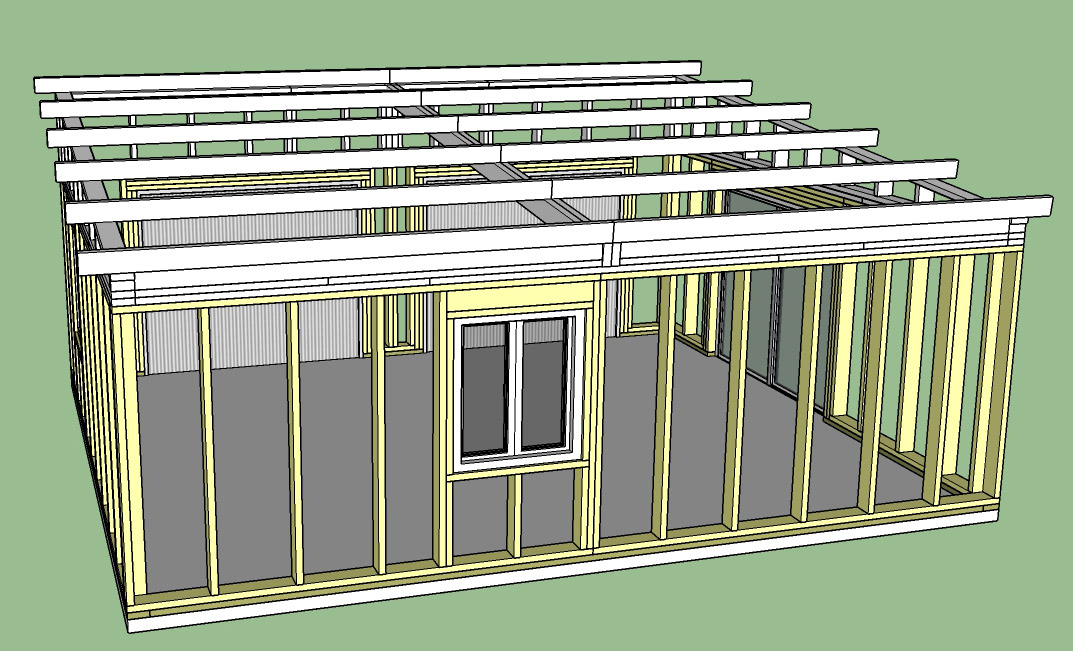 Construction d'un garage double en ossature bois Garage_5