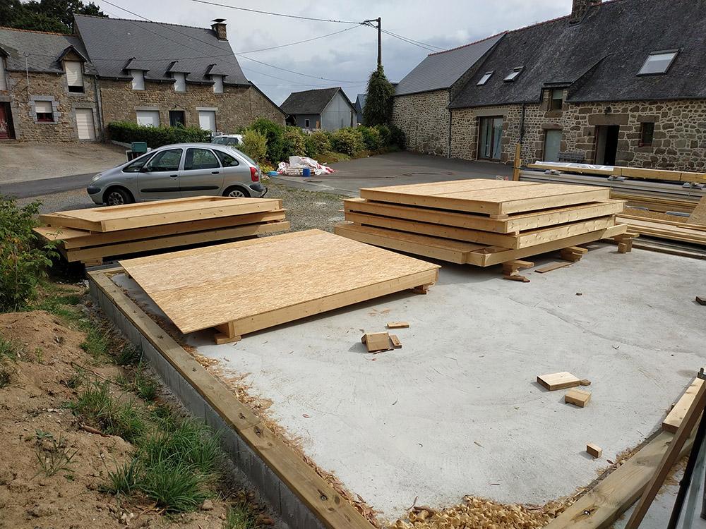 Construction d'un garage double en ossature bois - Page 5 Murs