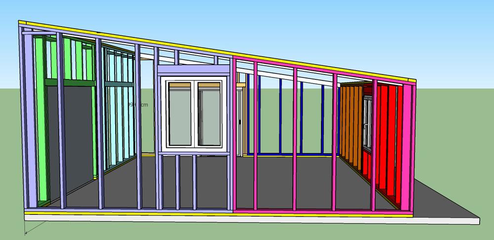 Construction d'un garage double en ossature bois - Page 3 Vue_est