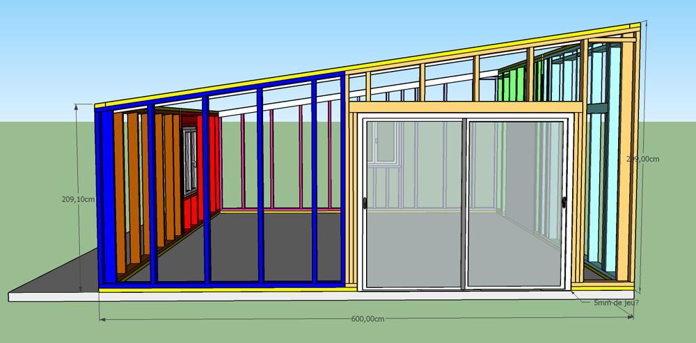 Construction d'un garage double en ossature bois - Page 3 Vue_ouest