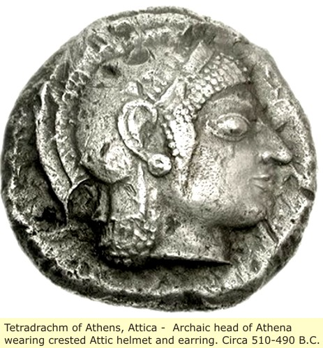study of Black Mediterranean History, via Coin and Pottery Athena_coin