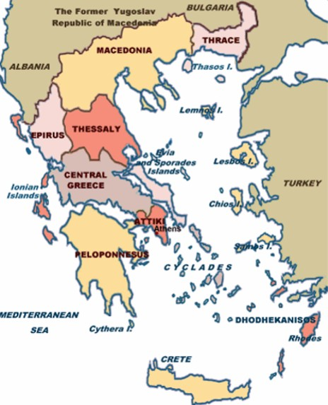 study of Black Mediterranean History, via Coin and Pottery Greece_map