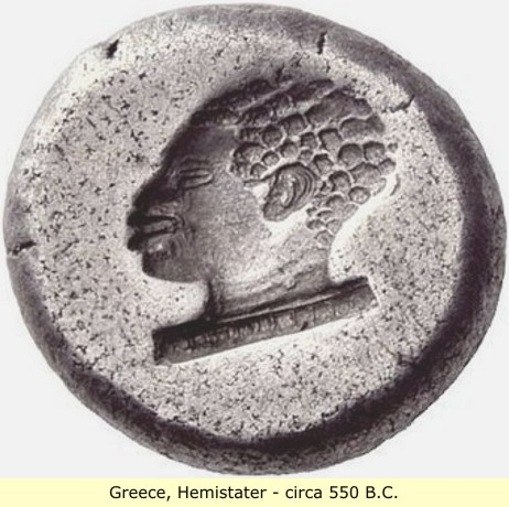 study of Black Mediterranean History, via Coin and Pottery Hemistater_coin