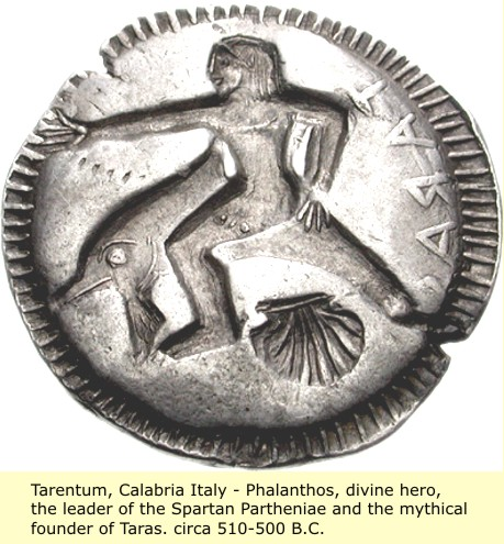 study of Black Mediterranean History, via Coin and Pottery Phalanthos_coin_2