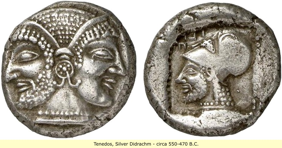 study of Black Mediterranean History, via Coin and Pottery Tenedos_coin