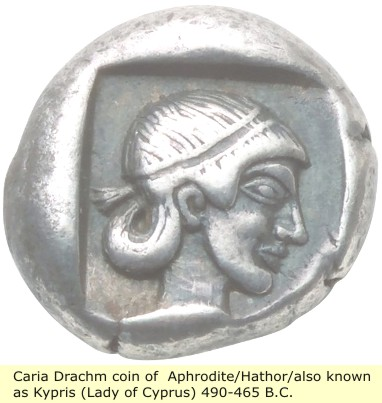 study of Black Mediterranean History, via Coin and Pottery Caria_coin