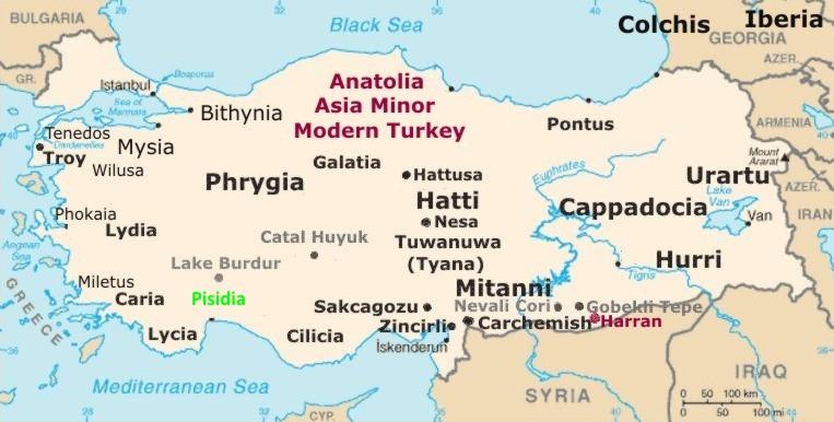 study of Black Mediterranean History, via Coin and Pottery Map_anatolia