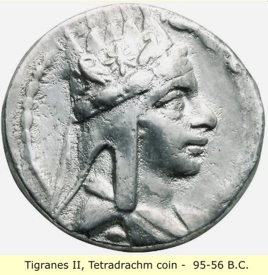 study of Black Mediterranean History, via Coin and Pottery Tigranes_coin