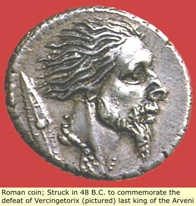 study of Black Mediterranean History, via Coin and Pottery Vercingetorix