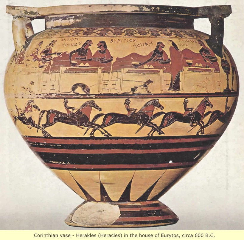 study of Black Mediterranean History, via Coin and Pottery Hoplite_Heracles