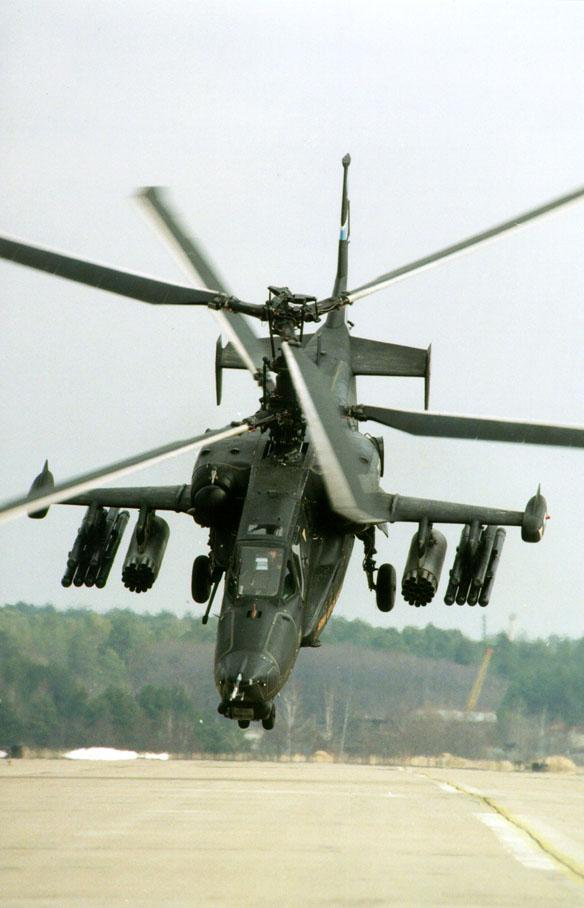 Hélicoptères de combats Ka50decollage