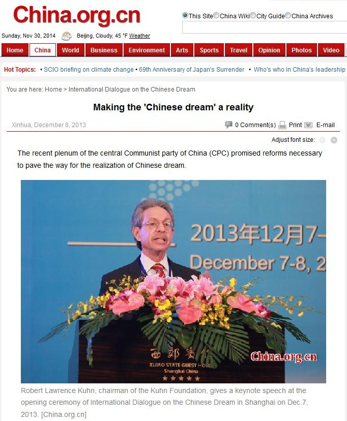 Meet Robert Lawrence Kuhn, Illuminati handler of China's leaders Kuhndream