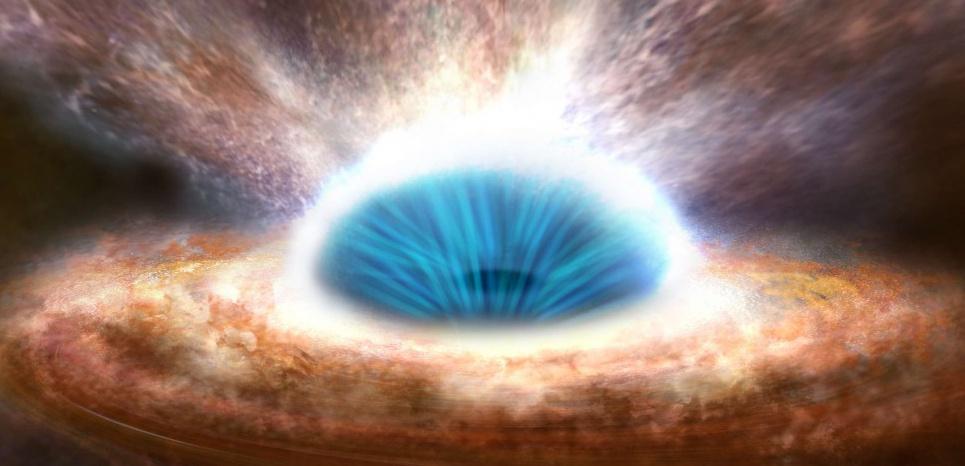 Le trou noir supermassif au centre de la galaxie  14577911