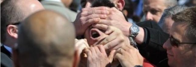 """Un """"perturbateur"""" évacué lors d'un discours de Sarkozy 1763342"""
