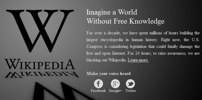 """Avec la loi  #SOPA, """" #Wikipedia pourrait fermer définitivement"""" 2981193"""