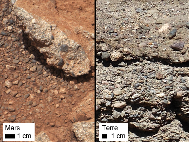 Des traces d'un ancien cours d'eau découvertes sur Mars 4492548