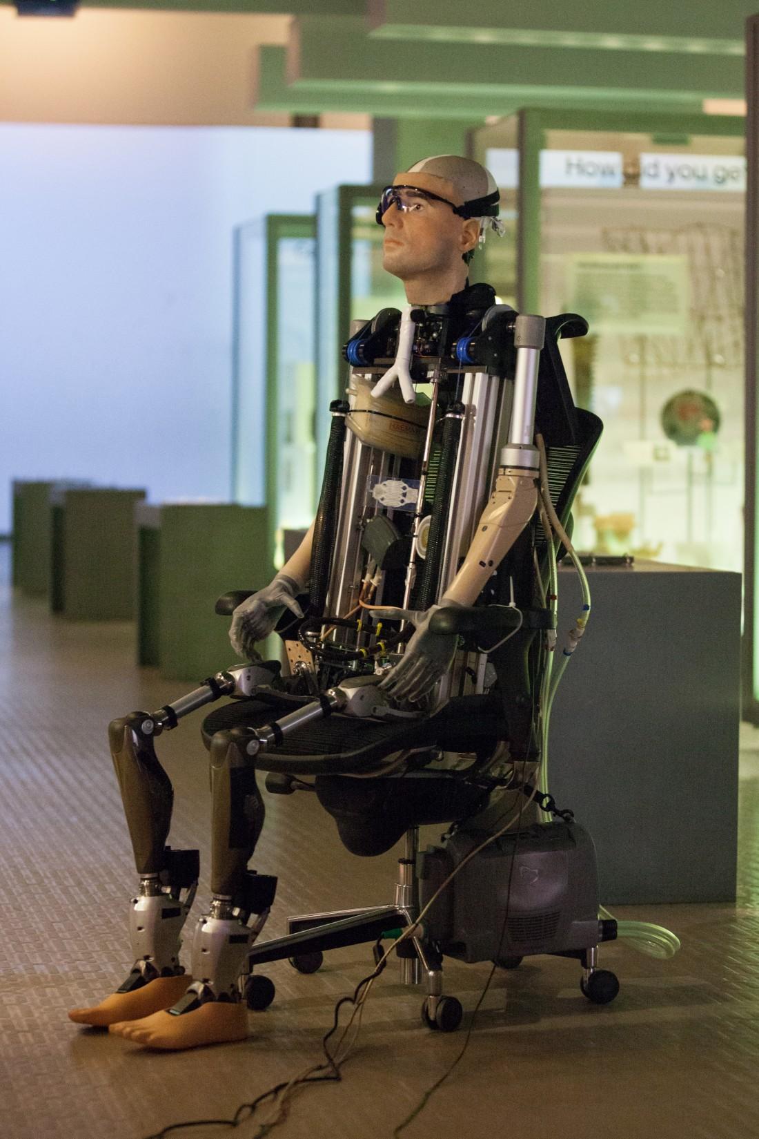 """Un """"homme bionique"""" exposé au Musée des Sciences de Londres 5198034"""