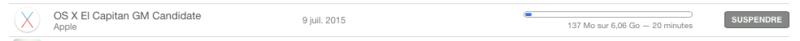 """Disponibilité de """"OS X El Capitan GM Candidate"""" 5040362d8923d5182962d35e900a965d912f046a"""