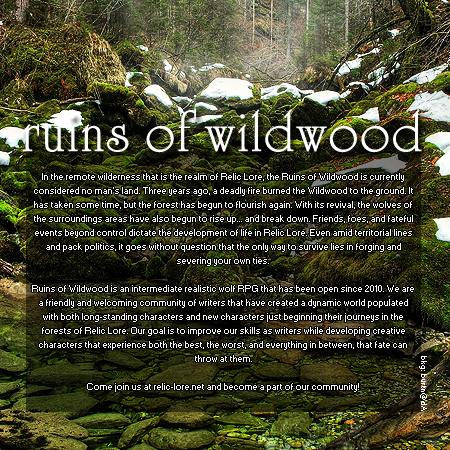 Ruins of Wildwood - REALISTIC WOLF Rowadvert4