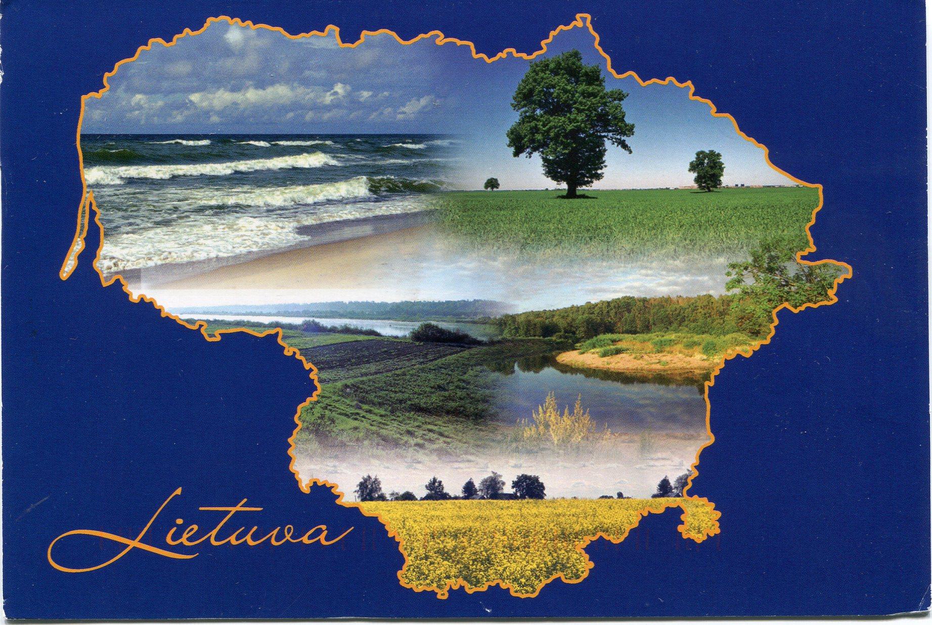 Pošalji mi razglednicu, neću SMS, po azbuci - Page 3 Lithuania-map