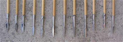 La flèche médiévale, La flecha medievales Archer-fleche-pointe-poincons01