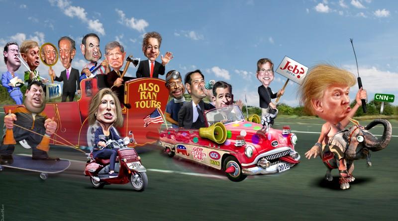 Gagging at the Circus of Killer Clowns  GOP-circus-800x445