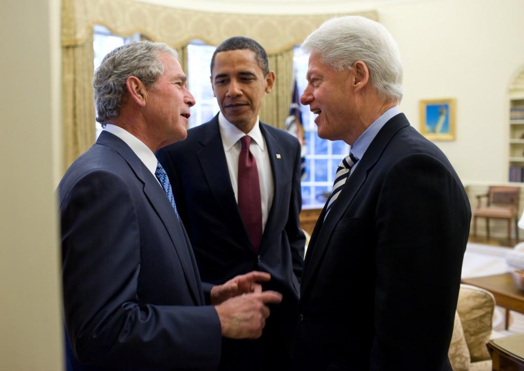 Gagging at the Circus of Killer Clowns  Obama_Bush_and_Clinton_discuss_the_2010_Haiti_earthquake-1024x726