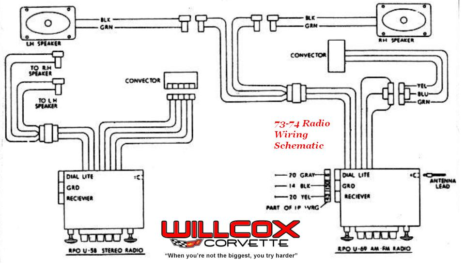 Branchement autoradio c3 et fixation console centrale 1973-1974-radio-schematic