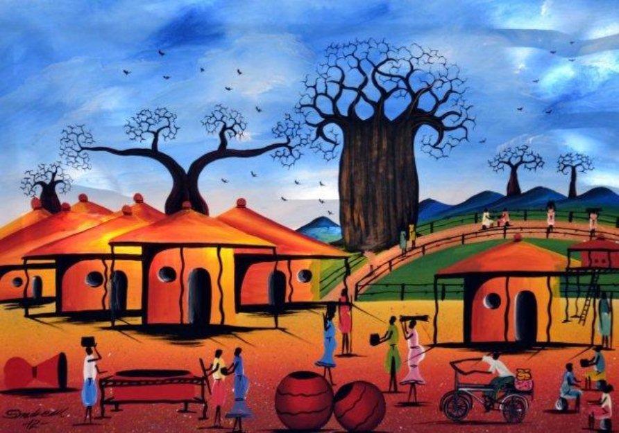 10 choses hallucinantes à savoir sur l'éducation en Afrique avant l'arrivée des Européens African-Village-Art-