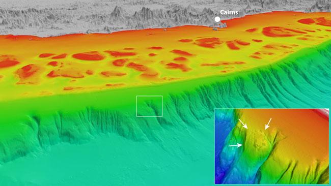 Losa del mar inestable cerca de Barrera de Coral  podría causar un gran tsunami  en el norte de Queensland 676966-nogin-block