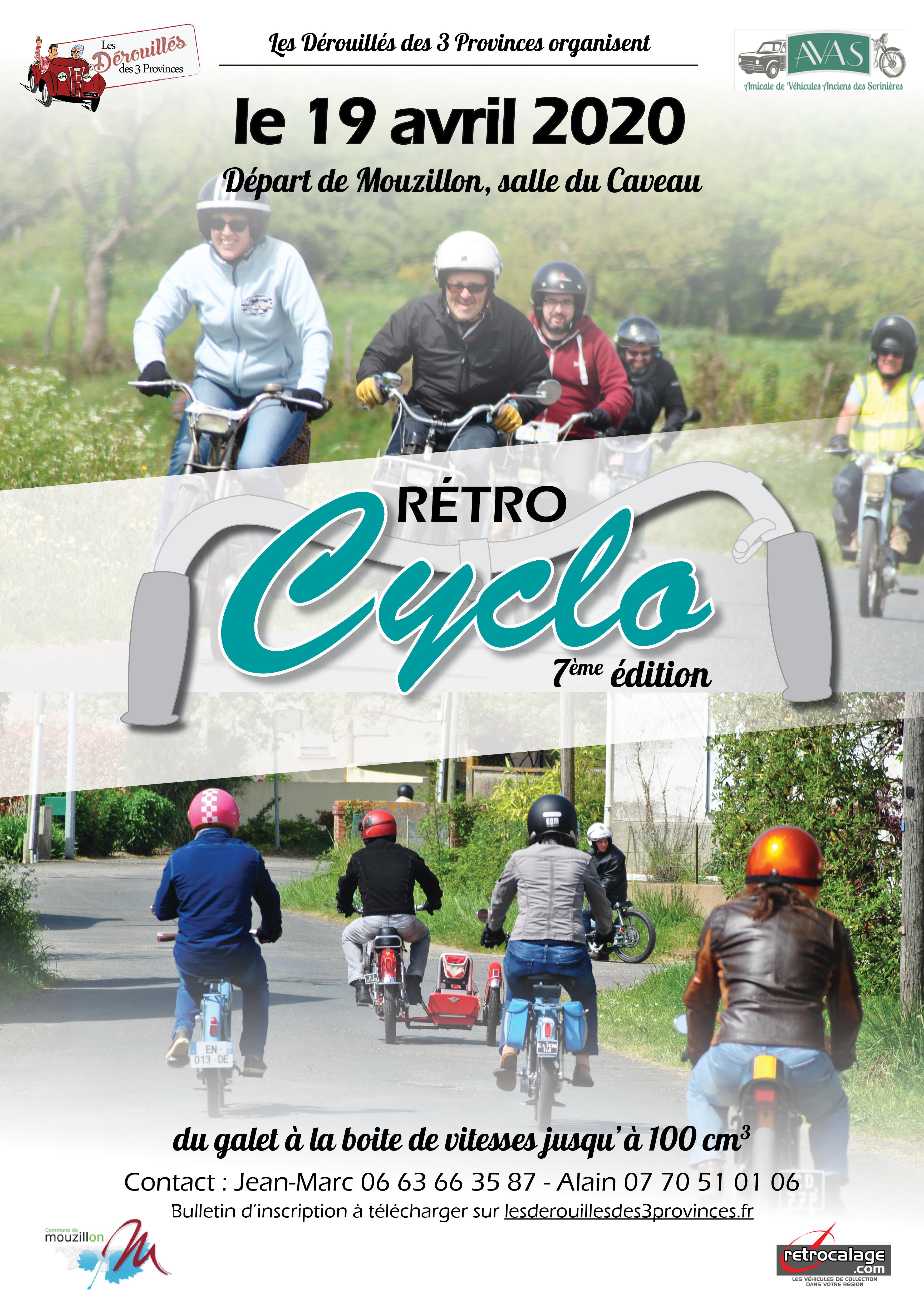 19 avril 2020 7e Rétro Cyclo  44 - Mouzillon 2020Retrocyclo2020