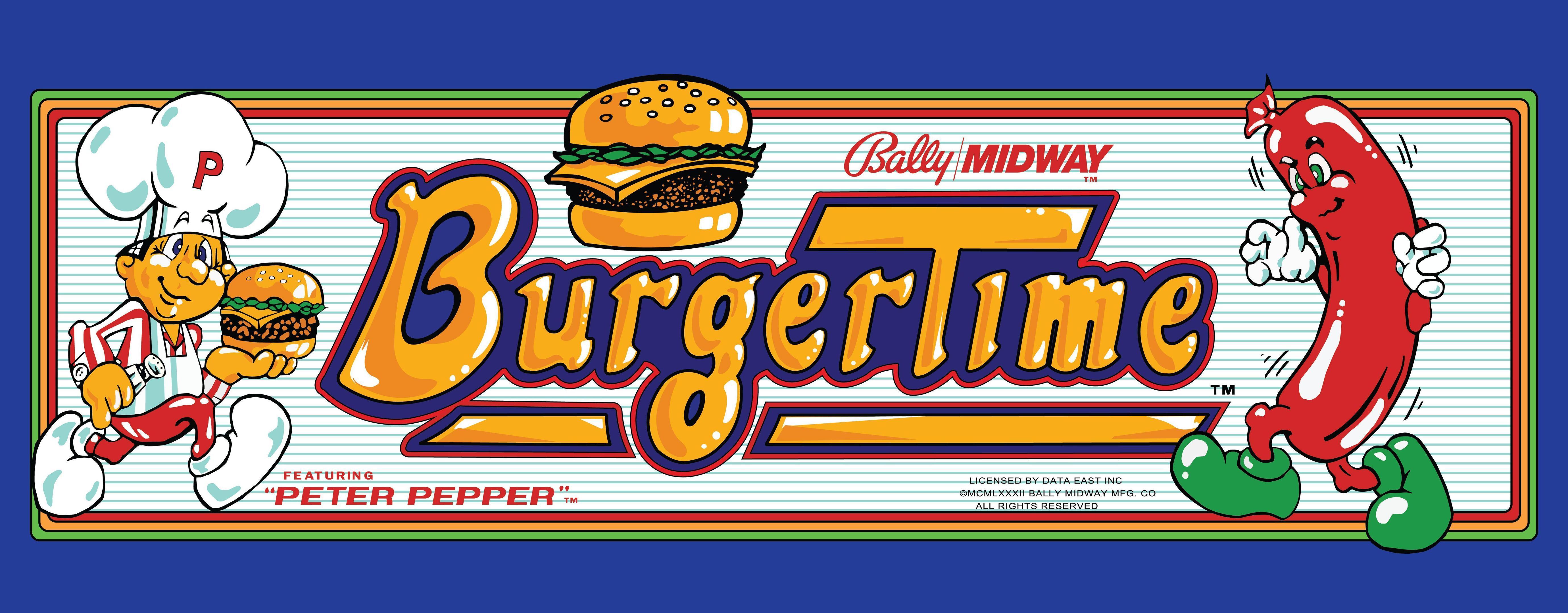 Nos Arcade Artworks préférés !! Burger-time-header