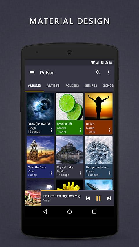 Aplikace Pulsar Music Player S1