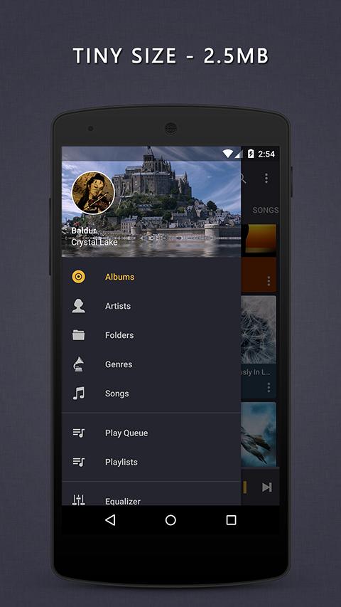 Aplikace Pulsar Music Player S3