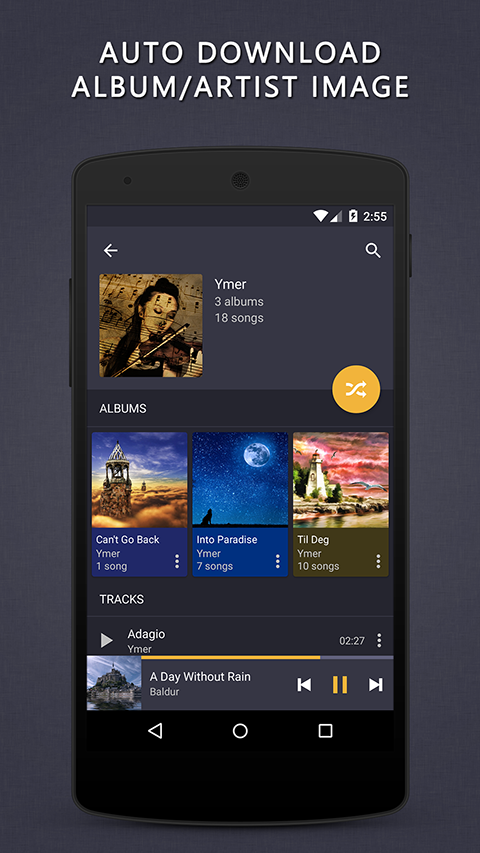 Aplikace Pulsar Music Player S4
