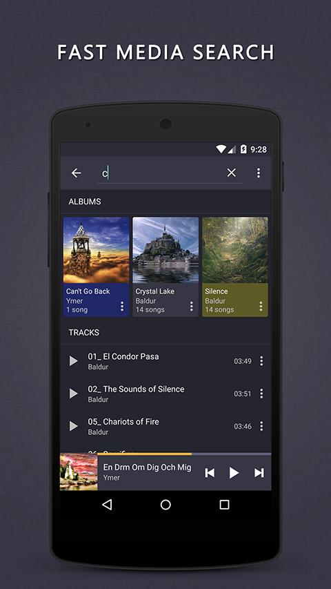 Aplikace Pulsar Music Player S9