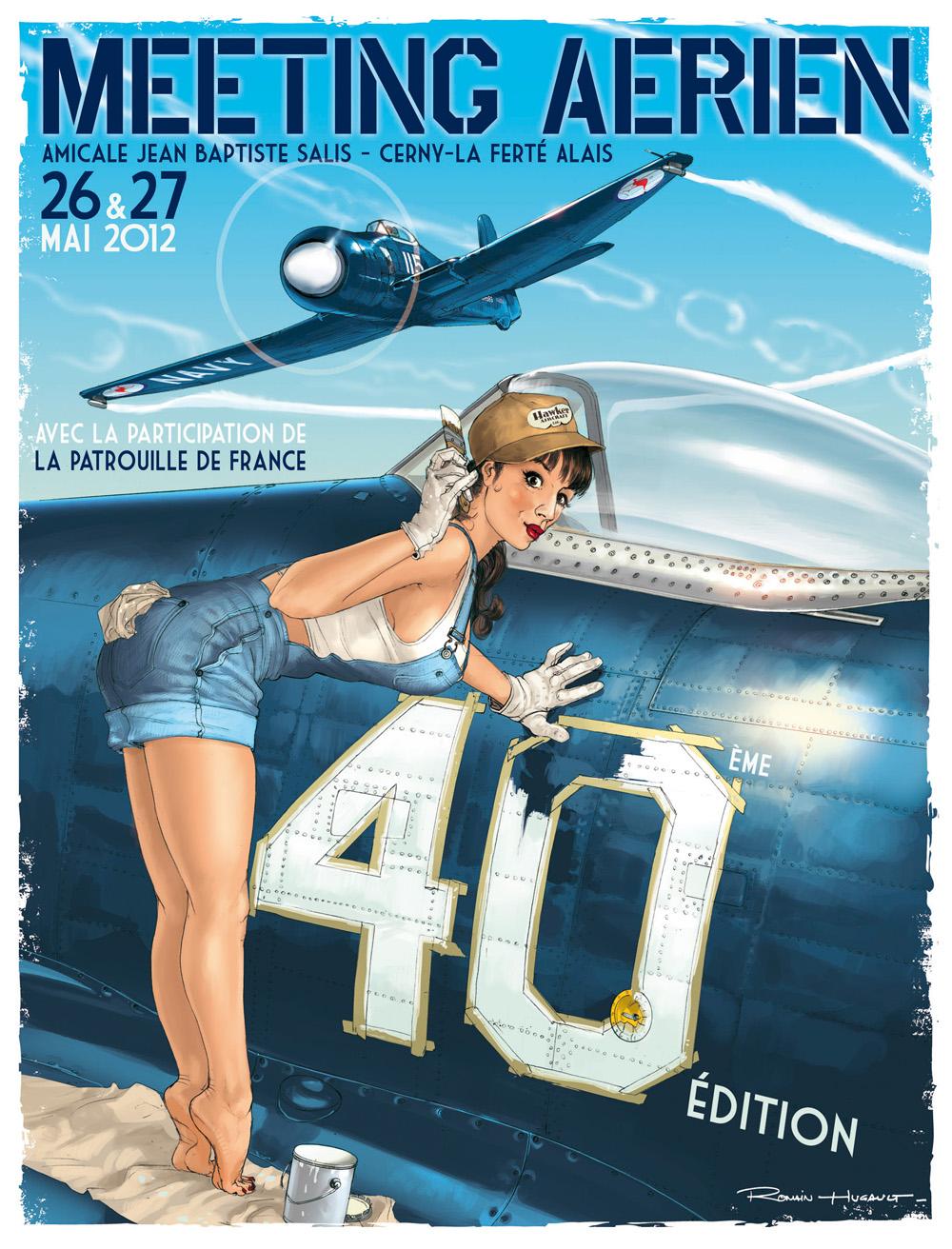R.HUGAULT : ses affiches des meeting aériens de la Ferté-Allais MEPferte2012