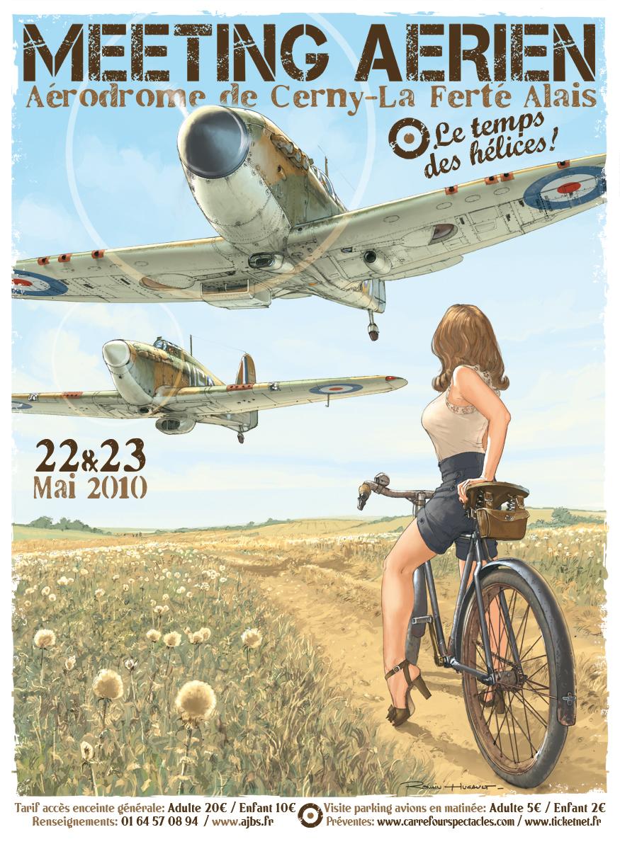 R.HUGAULT : ses affiches des meeting aériens de la Ferté-Allais Fertealais2010