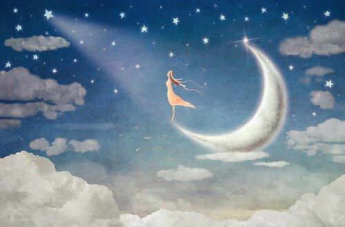 Aprende a dejar ir las cosas que no puedes controlar Mujer-en-la-luna-mirando-una-estrella