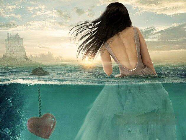 Una relación se hunde cuando hay demasiadas personas a bordo Mujer-en-el-agua-con-un-coraz%C3%B3n-hundido-1