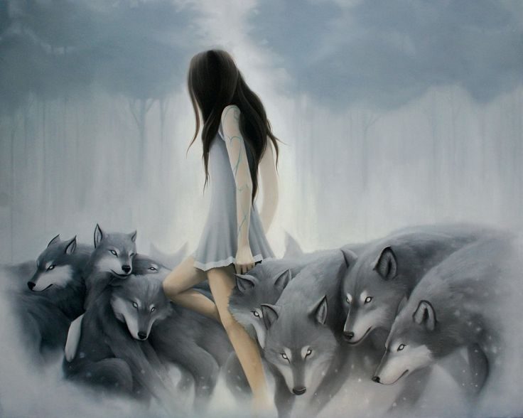 Bienvenidos al nuevo foro de apoyo a Noe #362 / 30.11.17 ~ 10.01.17 - Página 38 Mujer-rodeada-de-lobos
