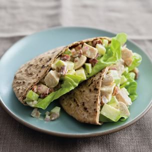 Curried Chicken-Apple Pitas Img74l