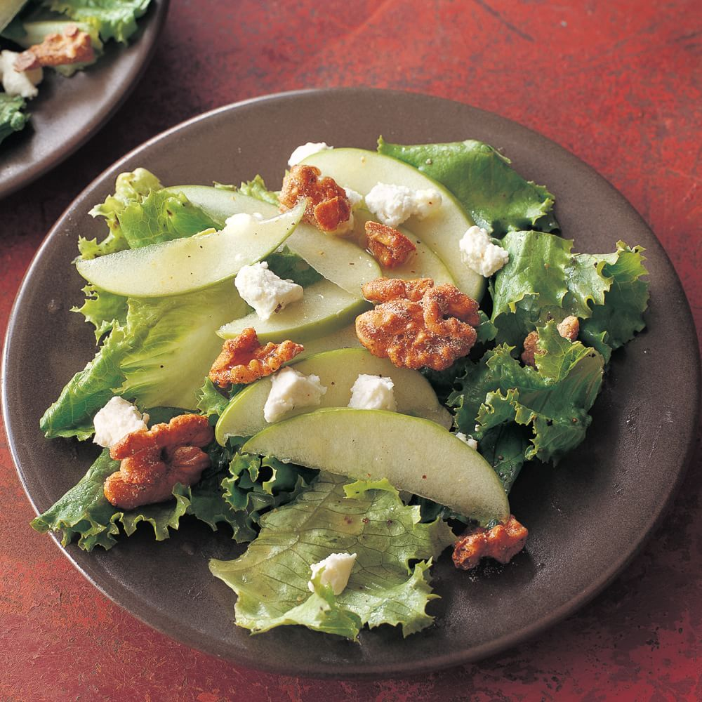 Apple Salad with Candied Walnuts and Roasted-Lemon Dressing Img54l