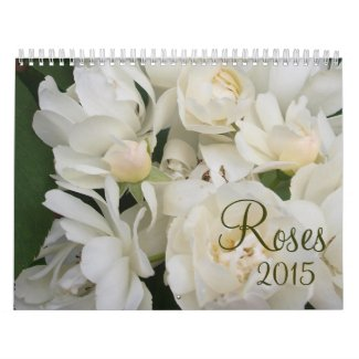 Antique Vintage English Roses Calendar 2015