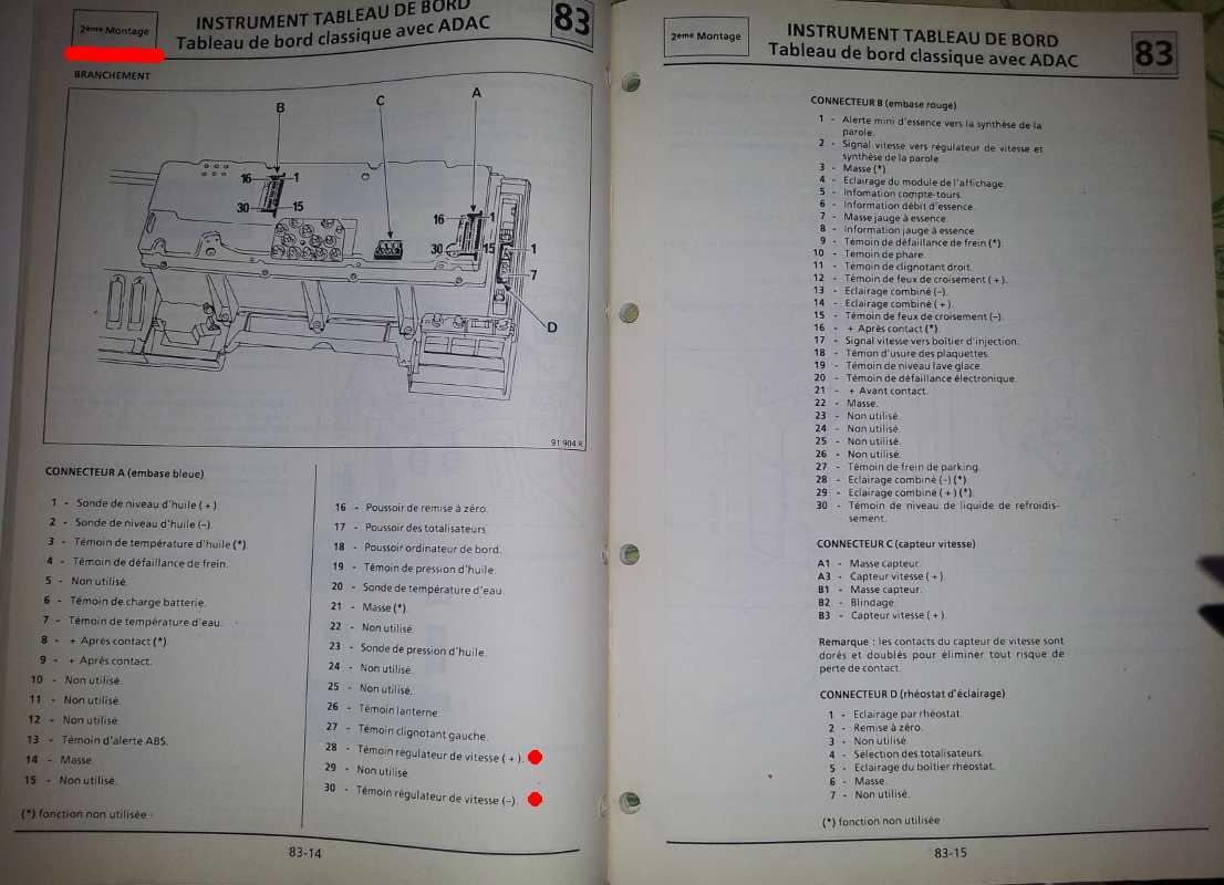 [RESOLU] Probleme regulateur de vitesse renault25 TDX - Page 4 Schemas_tdb2